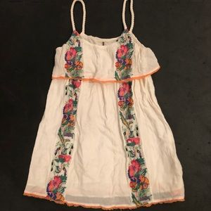 Free People dress with embroidery — XS